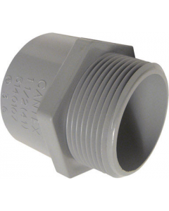 PVC TERMINAL ADAPTER MALE - 1-1/4""
