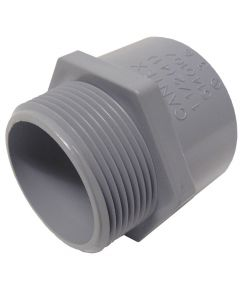 PVC TERMINAL ADAPTER MALE - 1/2""