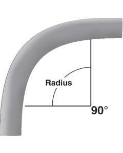"PVC ELBOW - 2-1/2"" 90-DEGREES 48"" RADIUS SCH-80"
